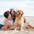 çift · oynama · köpek · sahil · genç · güzel - stok fotoğraf © deandrobot