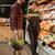 derűs · férfi · bevásárlókocsi · választ · gyümölcsök · kép - stock fotó © deandrobot
