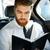 человека · рубашку · свитер · галстук · сидят · книга - Сток-фото © deandrobot