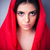 portrait of beautiful woman in red cloth stock photo © deandrobot
