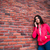 peinzend · jonge · vrouw · mobieltje · geïsoleerd · mobiele - stockfoto © deandrobot