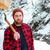 深刻 · あごひげを生やした · 小さな · 木こり · 斧 · 山 - ストックフォト © deandrobot