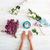 女性 · 写真 · 花 · 花 · 手 - ストックフォト © deandrobot