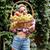 panier · juteuse · fruits · bois · vert · printemps - photo stock © deandrobot