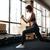 genç · uygun · kadın · halter · spor · salonu - stok fotoğraf © deandrobot