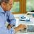 zakenman · senior · grijs · haar · werken · laptop · laptop · computer - stockfoto © deandrobot