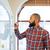 ハンサムな男 · 立って · ホワイトボード · 創造 · フローチャート · 幸せ - ストックフォト © deandrobot