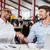 два · бизнесменов · рукопожатием · человека · заседание - Сток-фото © deandrobot