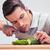 homem · pepino · comida · mão · casa - foto stock © deandrobot
