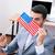 деловой · человек · Соединенные · Штаты · галстук · Америки · флаг · бизнеса - Сток-фото © deandrobot