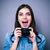 nő · fotós · kamera · szürke · technológia · fiatal - stock fotó © deandrobot