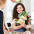 jonge · vrouwen · business · eigenaar · bloemist · boeket - stockfoto © deandrobot