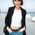 bela · mulher · saco · ao · ar · livre · mulher · praia · céu - foto stock © deandrobot