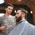férfi · fodrász · kezek · körülvágó · vág · haj - stock fotó © deandrobot