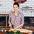 séduisant · jeune · femme · cuisine · cuisson · déjeuner · sourires - photo stock © deandrobot