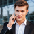 gelukkig · jonge · zakenman · praten · mobiele · telefoon · business - stockfoto © deandrobot
