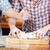 kadın · fırıncı · erkek · pişirmek · mutfak - stok fotoğraf © deandrobot