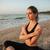 女性 · 瞑想 · 熱帯ビーチ · 若い女性 · ビーチ - ストックフォト © deandrobot