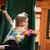 enfants · jouant · slide · école · aire · de · jeux · bois · été - photo stock © deandrobot