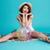 portré · izgatott · nyár · lány · ül · pléd - stock fotó © deandrobot
