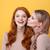 młodych · uśmiechnięty · kobiet · znajomych · stałego · żółty - zdjęcia stock © deandrobot