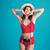 piękna · kobieta · bikini · odizolowany · czerwony · dziewczyna · szczęśliwy - zdjęcia stock © deandrobot