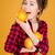 alegre · jovem · senhora · toranja · quadro - foto stock © deandrobot