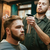 genç · sakal · görüntü · kuaför · oturma - stok fotoğraf © deandrobot