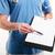 女性 · 医師 · クリップボード · 孤立した · 白 - ストックフォト © deandrobot