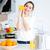 vrouw · sinaasappelsap · keuken · portret · cute - stockfoto © deandrobot