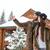 fiatal · boldog · pár · tél · hegyek · téli · sport - stock fotó © deandrobot