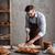 foto · jonge · man · bakker · brood · permanente - stockfoto © deandrobot
