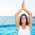 woman doing yoga exercises stock photo © deandrobot