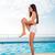 女性 · ヨガ · 図 · ビーチ · 美しい - ストックフォト © deandrobot