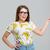 mutlu · kadın · gözlük · işaret · parmak · uzak - stok fotoğraf © deandrobot