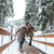 kadın · adam · kış · kar · yürümek - stok fotoğraf © deandrobot