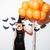 güzel · genç · kadın · cadı · kostüm · şapka · süpürge - stok fotoğraf © deandrobot