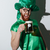drunk screaming man in stpatriks costume holding cup stock photo © deandrobot