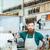 официант · кофе · борьбе · ресторан · человека - Сток-фото © deandrobot