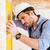 portrait · constructeur · construction · niveau - photo stock © deandrobot