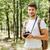 giovani · maschio · fotografo · escursioni · foresta · ispanico - foto d'archivio © deandrobot
