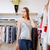 młoda · kobieta · ubrania · showroom · kobieta · zakupy - zdjęcia stock © deandrobot