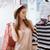 lány · kalap · butik · hátulnézet · mosolyog · fiatal · nő - stock fotó © deandrobot