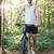 tam · uzunlukta · bisikletçi · orman · adam · spor - stok fotoğraf © deandrobot