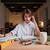 красоту · служба · женщину · чтение · таблице · компьютер - Сток-фото © deandrobot