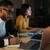 equipo · de · negocios · ordenador · de · trabajo · tarde · oficina · negocios - foto stock © deandrobot