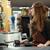 Cashier woman on workspace in supermarket shop stock photo © deandrobot