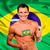 feliz · ventilador · Brasil · bandeira · sorrir - foto stock © deandrobot