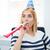 gündelik · kadın · ıslık · parti · şapka · kız - stok fotoğraf © deandrobot