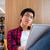 ázsiai · diák · olvas · könyv · egyetem · könyvtár - stock fotó © deandrobot